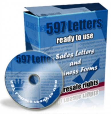 Product picture 597 Ready To Use Sales Letters and Business Forms - With full resell rights