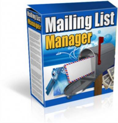Product picture Mailing List Manager - Full Resale Rights Included
