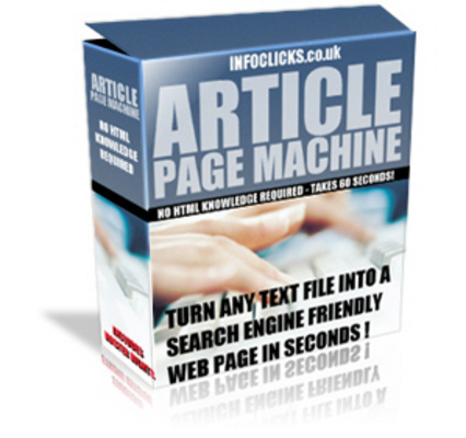 Product picture Article Page Machine + Resale Rights