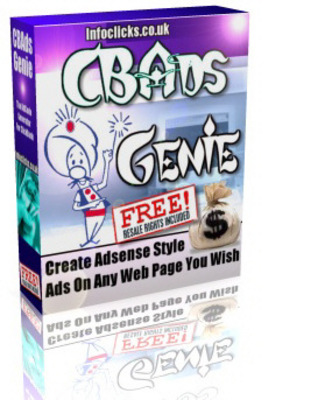 Product picture CBADS Genie - php - With Master Resell Rights