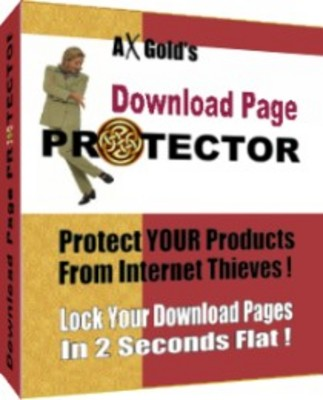 Product picture Download Page Protector - Protect Your Products From Internet Thieves! + Resale Rights
