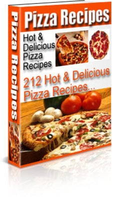 Product picture 212 Hot And Delicious Pizza Recipes PLR