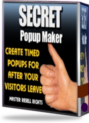 Product picture Secret Pop Up Maker -  Pop Ups for After Your Visitors Leave