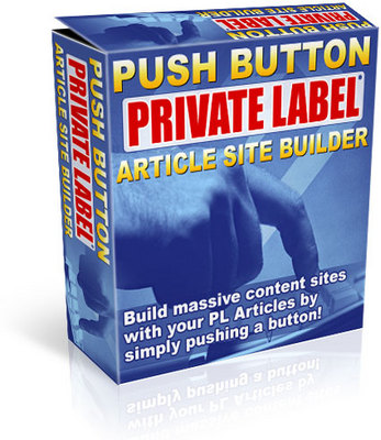 Product picture Push Button Private Label Article Site Builder